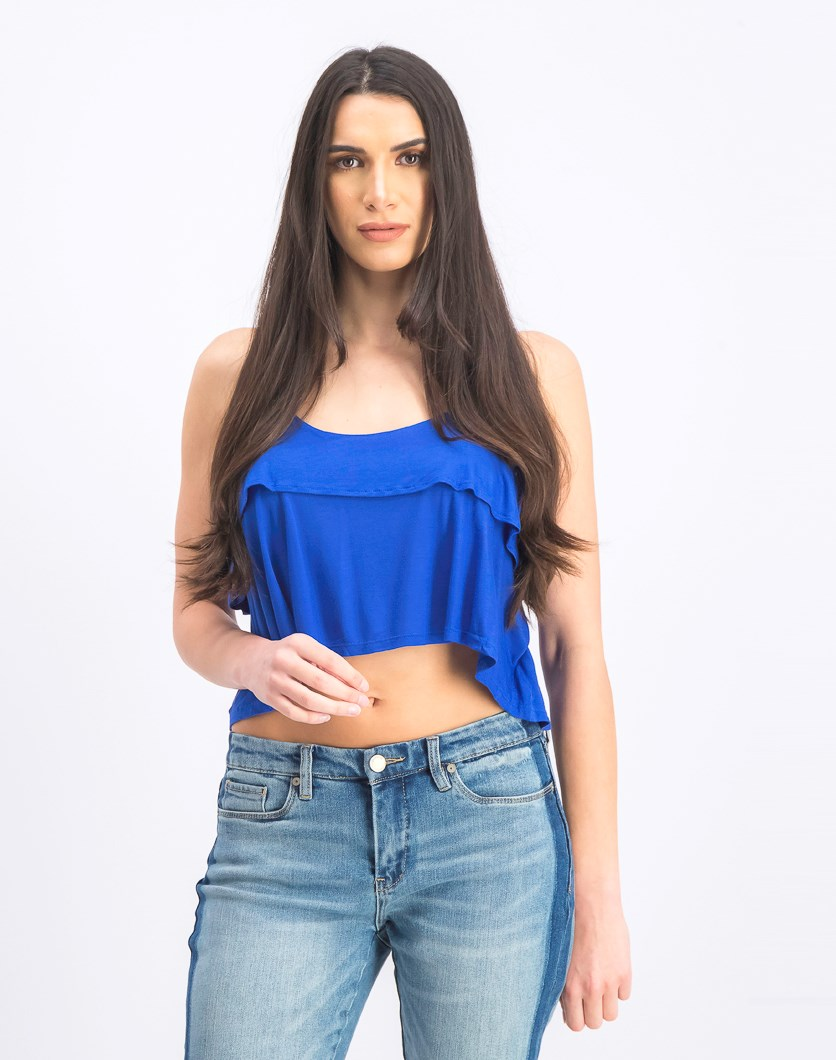 Women's Scoop Neck Top, Blue