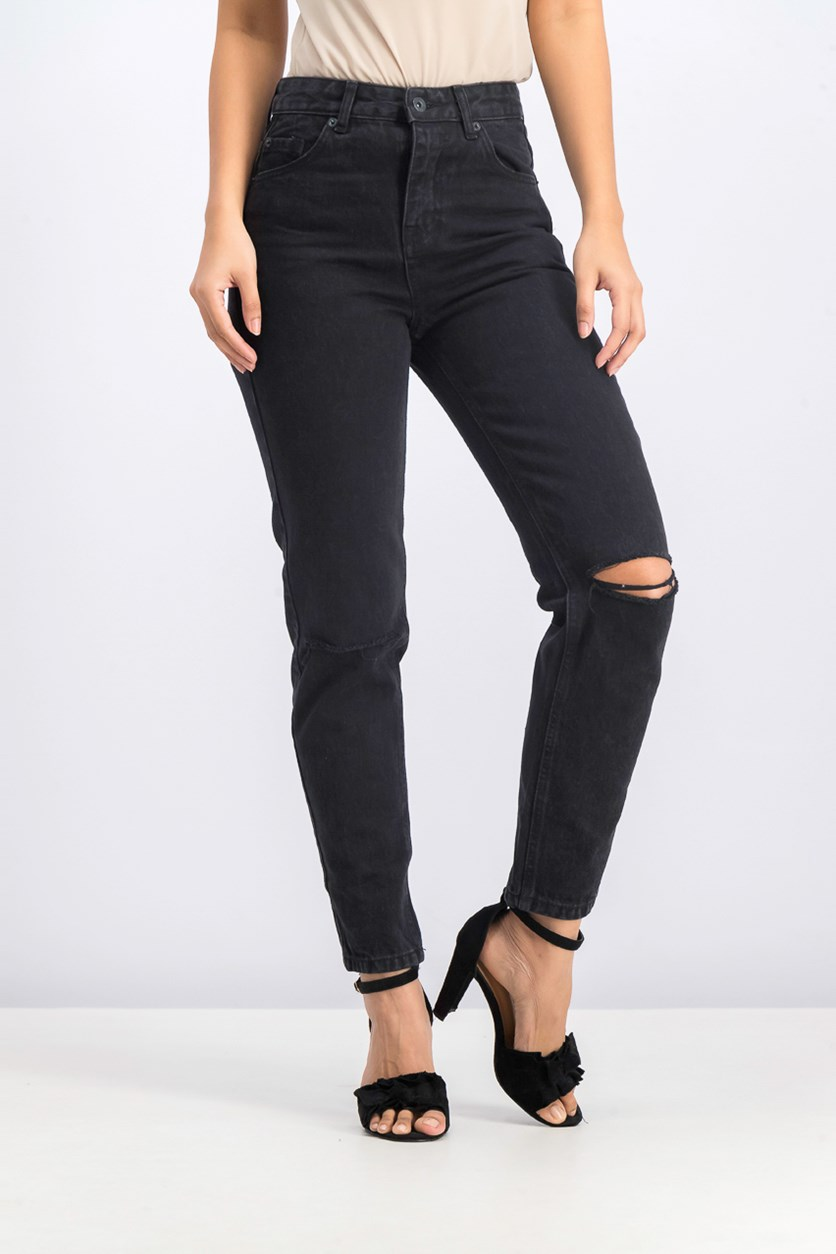Women's Five Pocket Jean's, Black