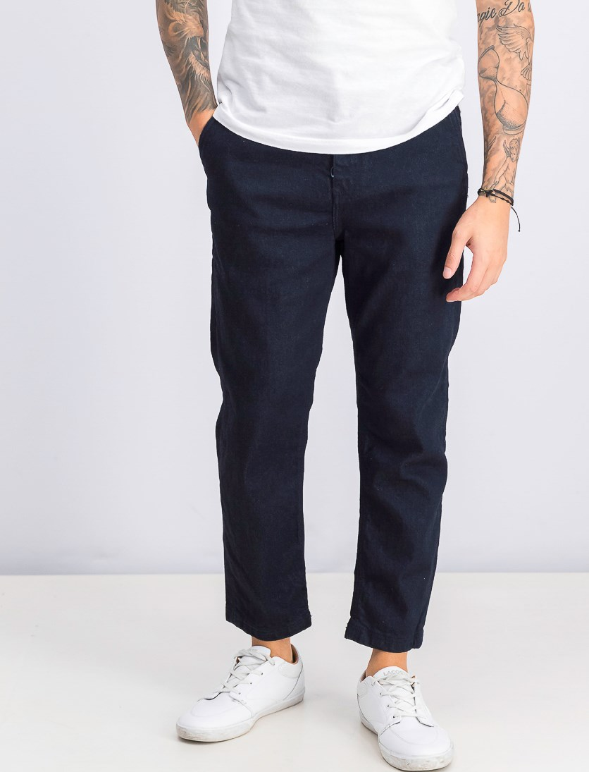 Men's Cropped Jeans, Dark Indigo