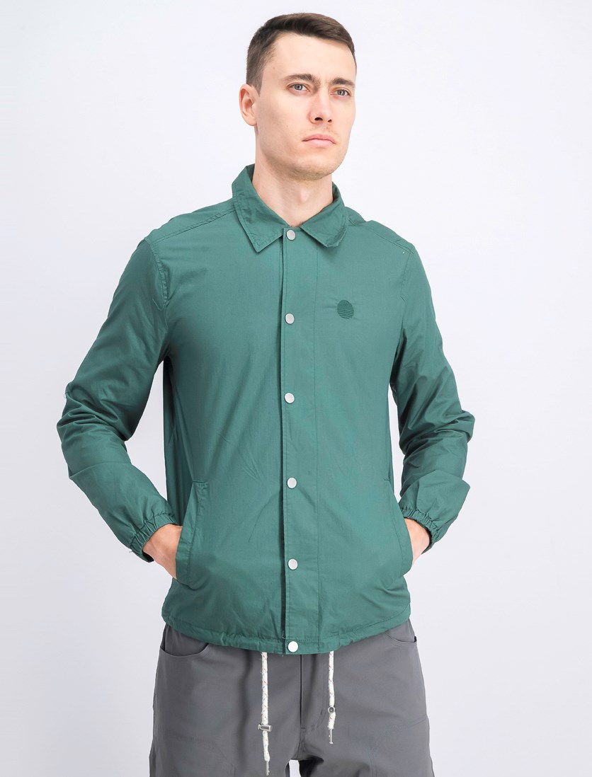 Men's Snap Button Jacket, Green