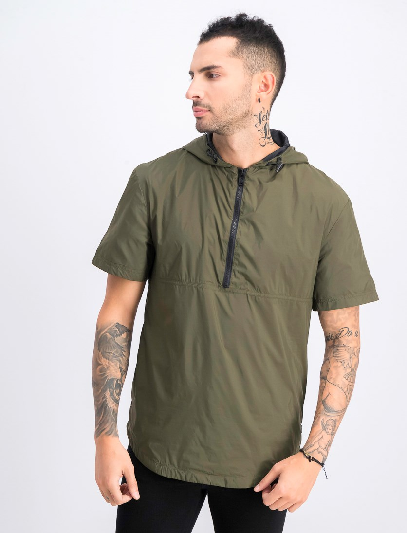 Men's Lightweight Hooded Shirt, Olive