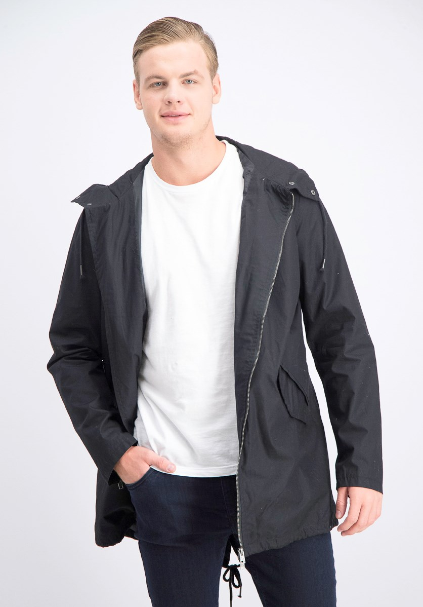 Men's Windbreaker Jacket, Black