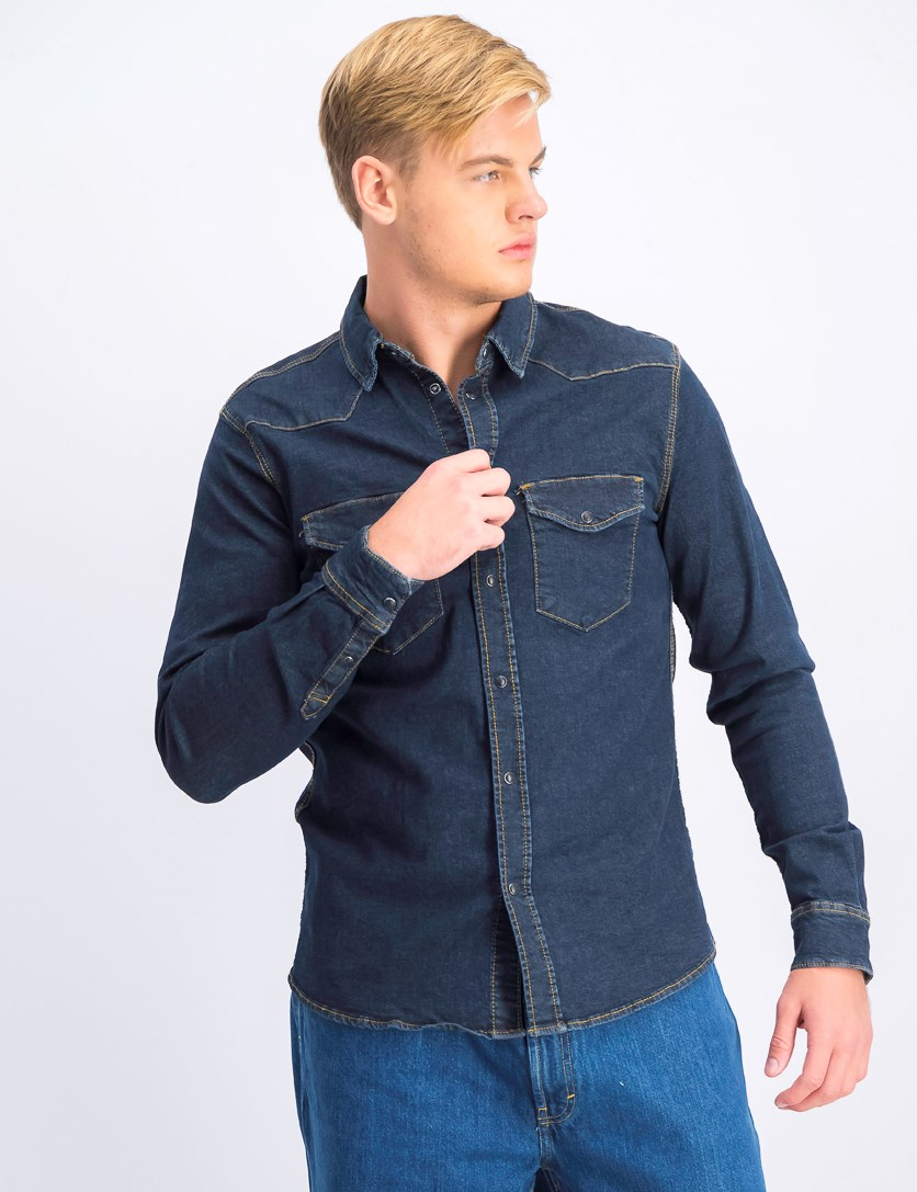 Men's Denim Shirt, Blue