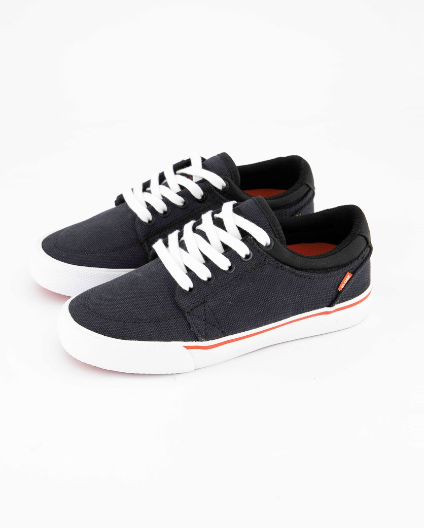 Boy's Lace Up Casual Shoes, Black