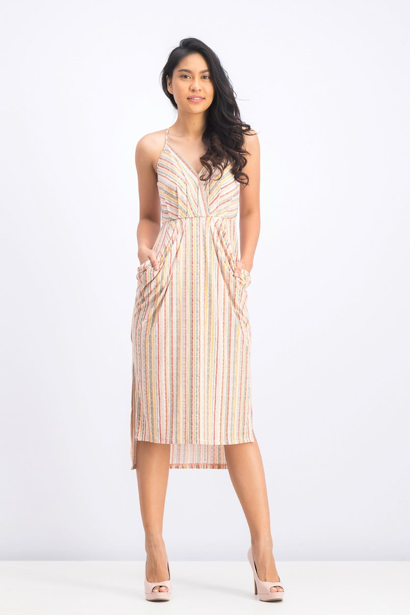 Women's Printed Dress, Dusty Pink