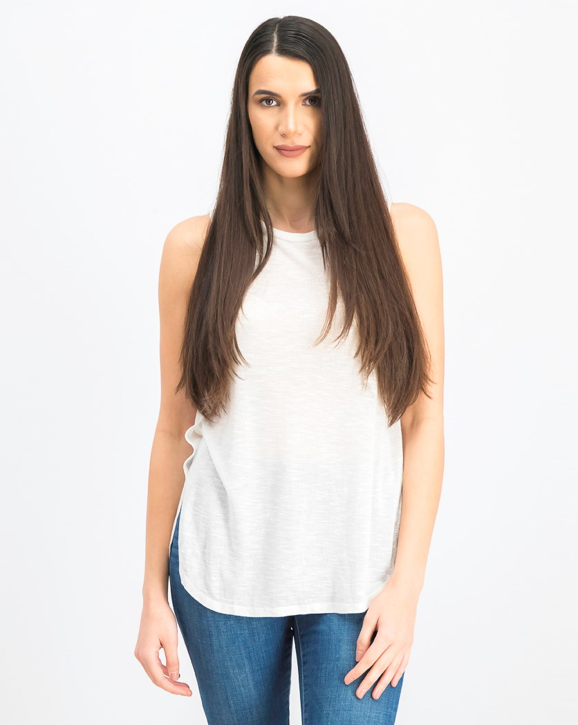 Women's  Tulip Side Tank, Ivory