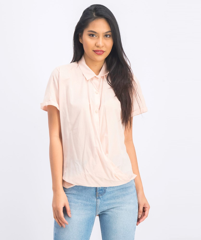 Women's Stripe Shirt, Antique Rose