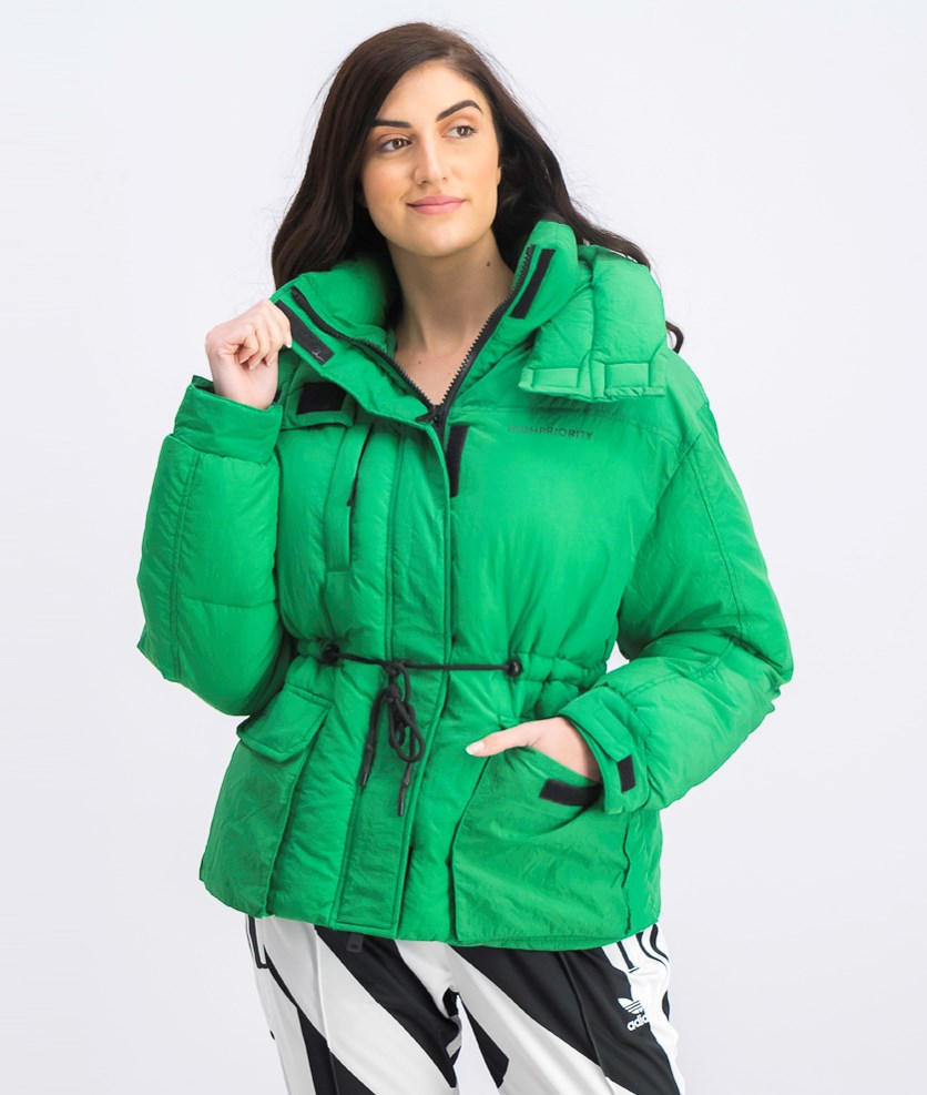Women's Oversized Puffer Jacket, Green