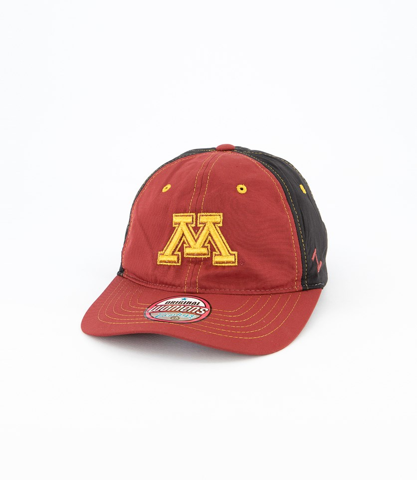 Women's Zephyr Minnesota Feisty Cap, Burgundy/Black/Gold