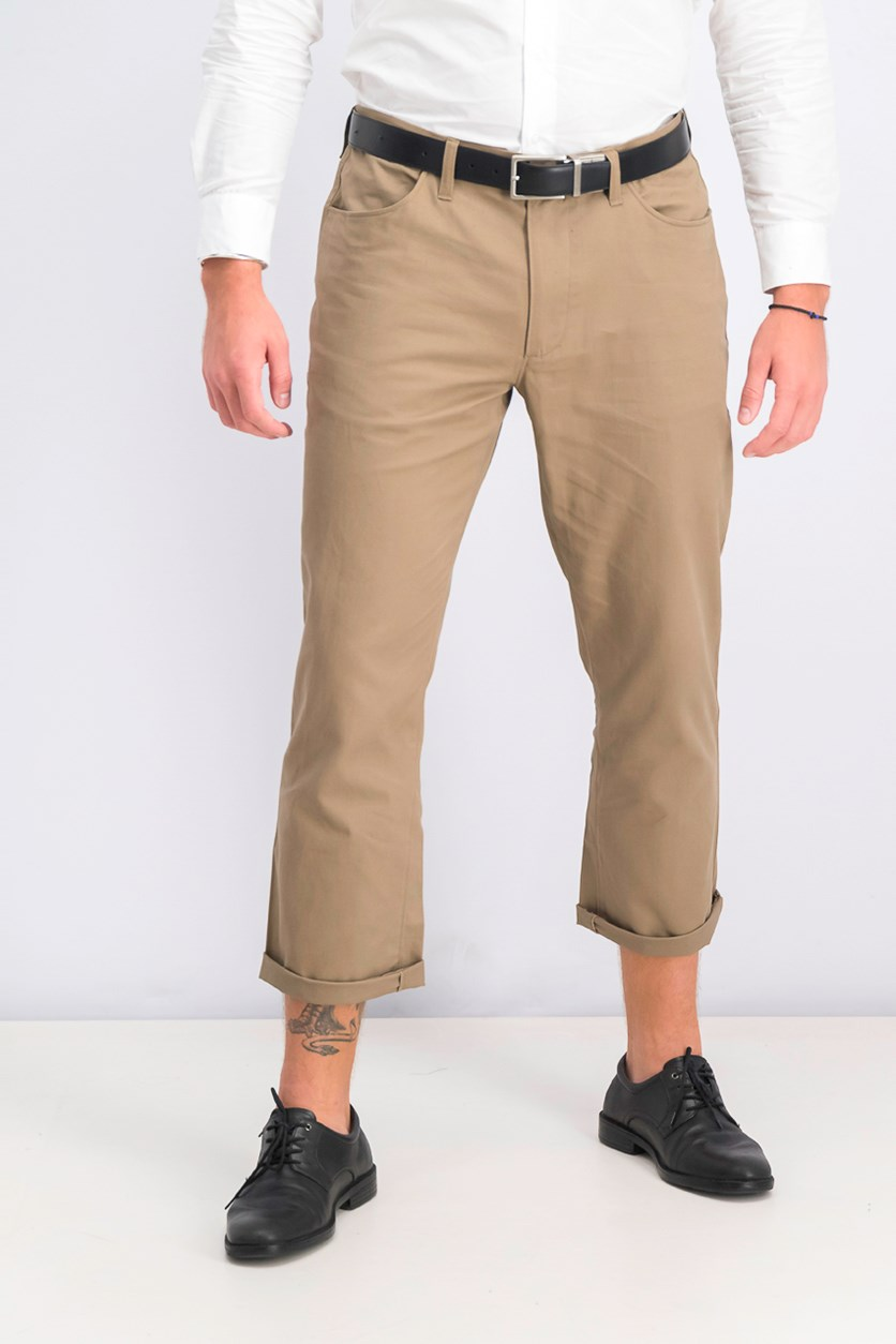 Men's Regular-fit Casual Pants, Smokey Taupe