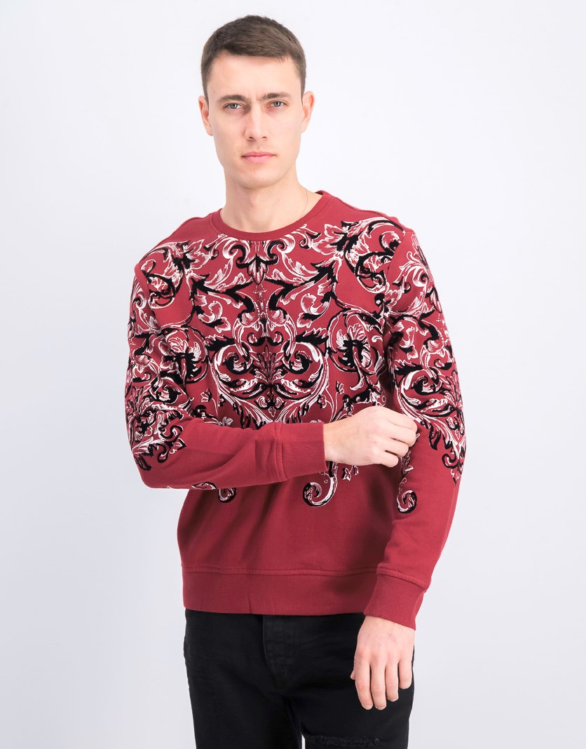Men's Printed Sweater, Chinese Apple