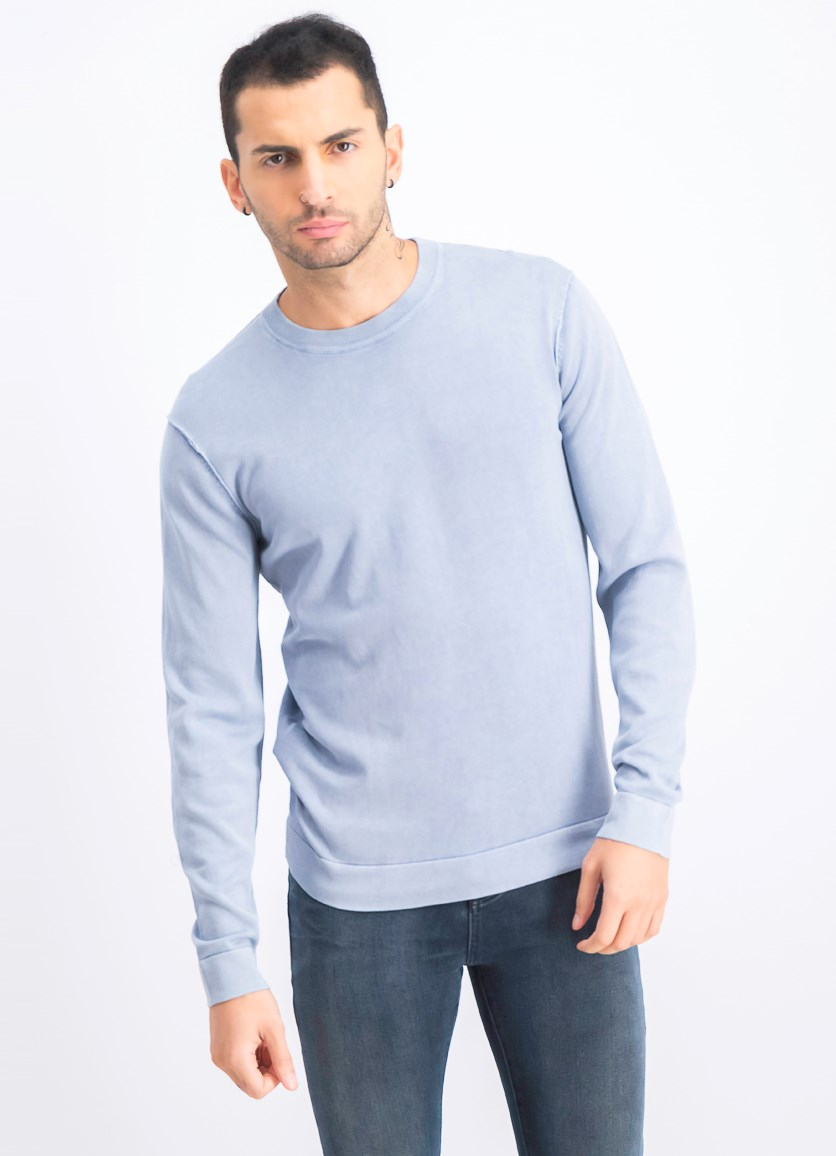 Men's Pullover Sweater, Flint Blue