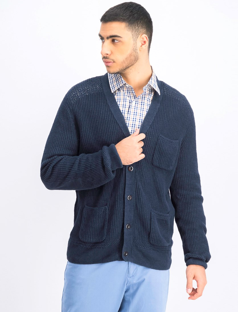 Men's Long Sleeve Sweater, True Navy