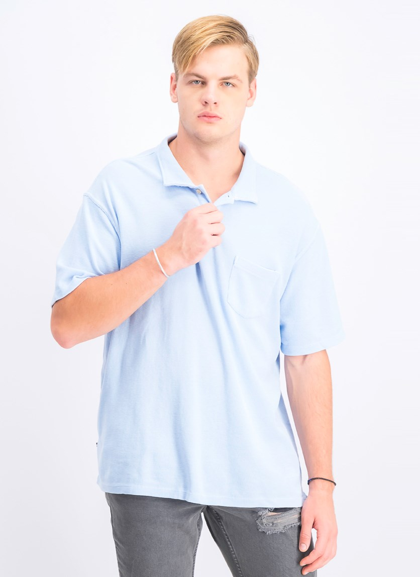 Men's Whitman Polo Shirt, Cerulean Blue