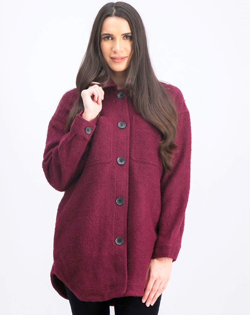 Women's Sweater Jacket, Burgundy