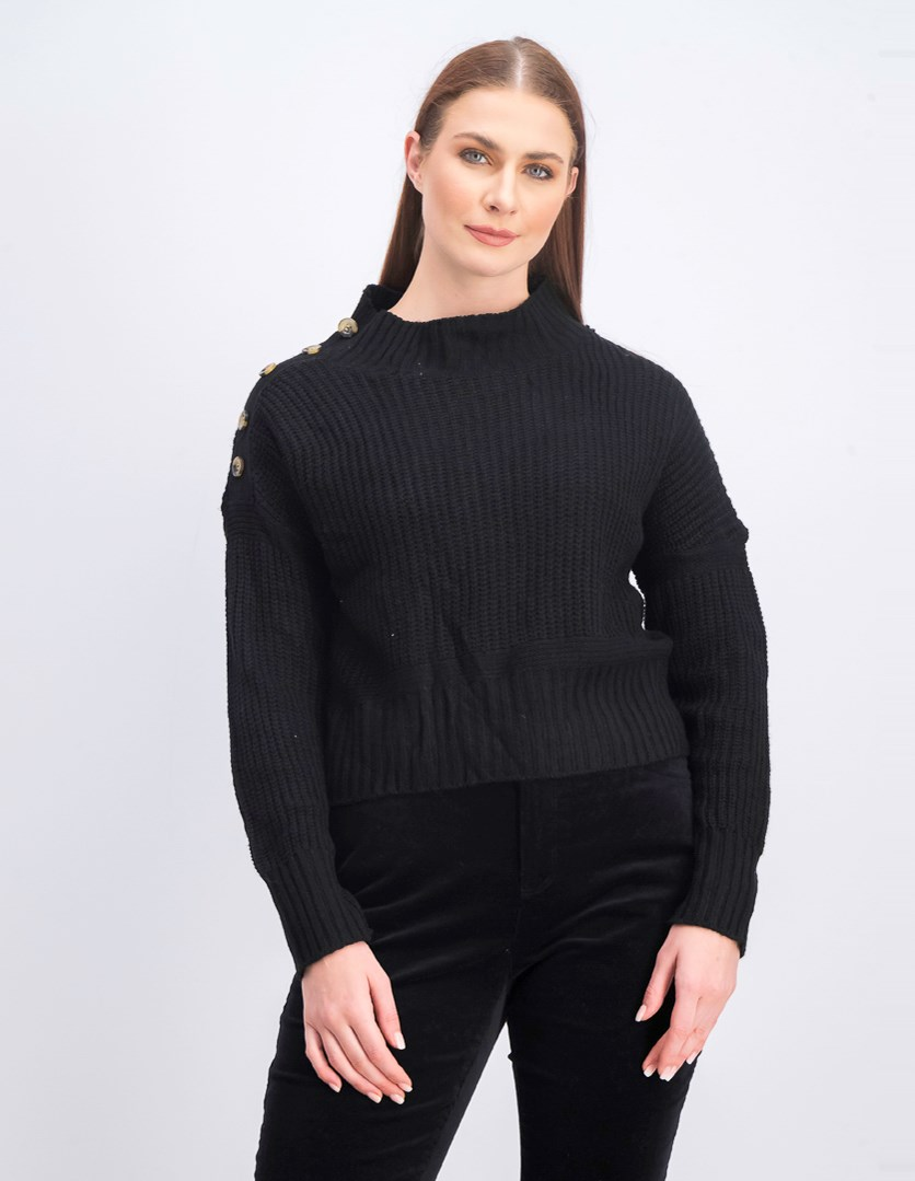 Women's Long Sleve Sweaters, Black