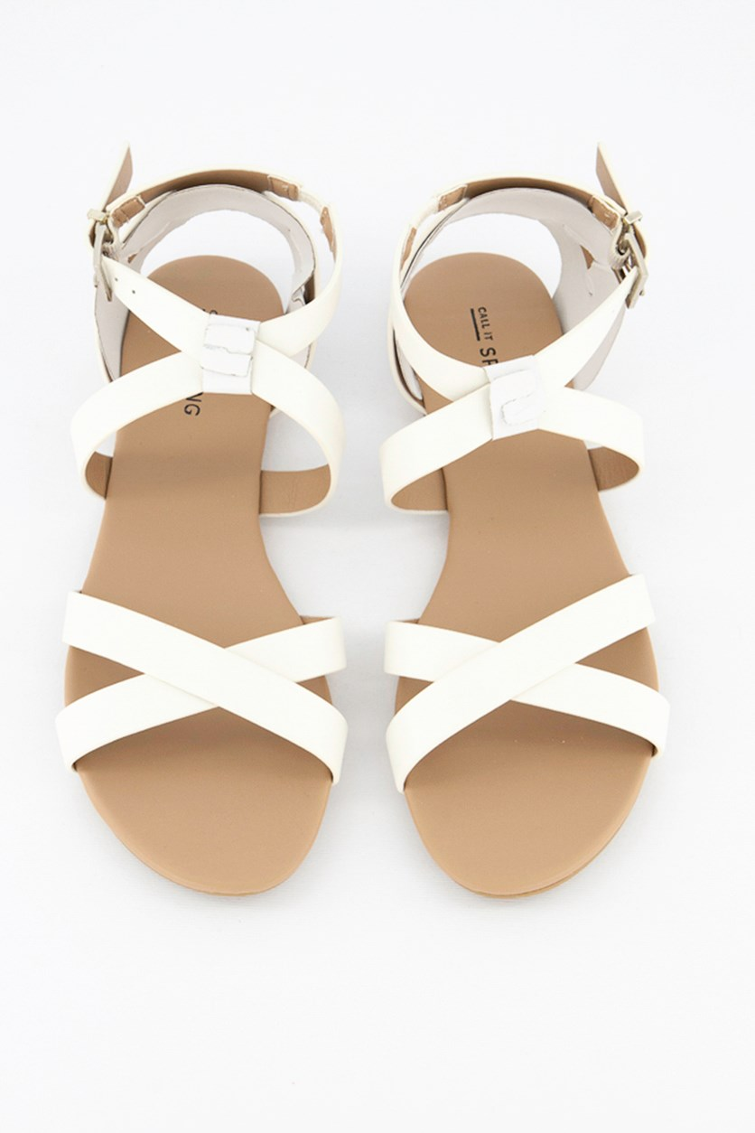 Women's Caderiviel Flat Sandals, White