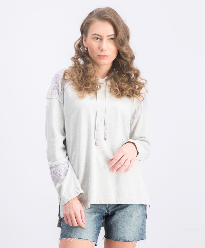 Women's Embellished Hoodie Sweatshirt, Frosty