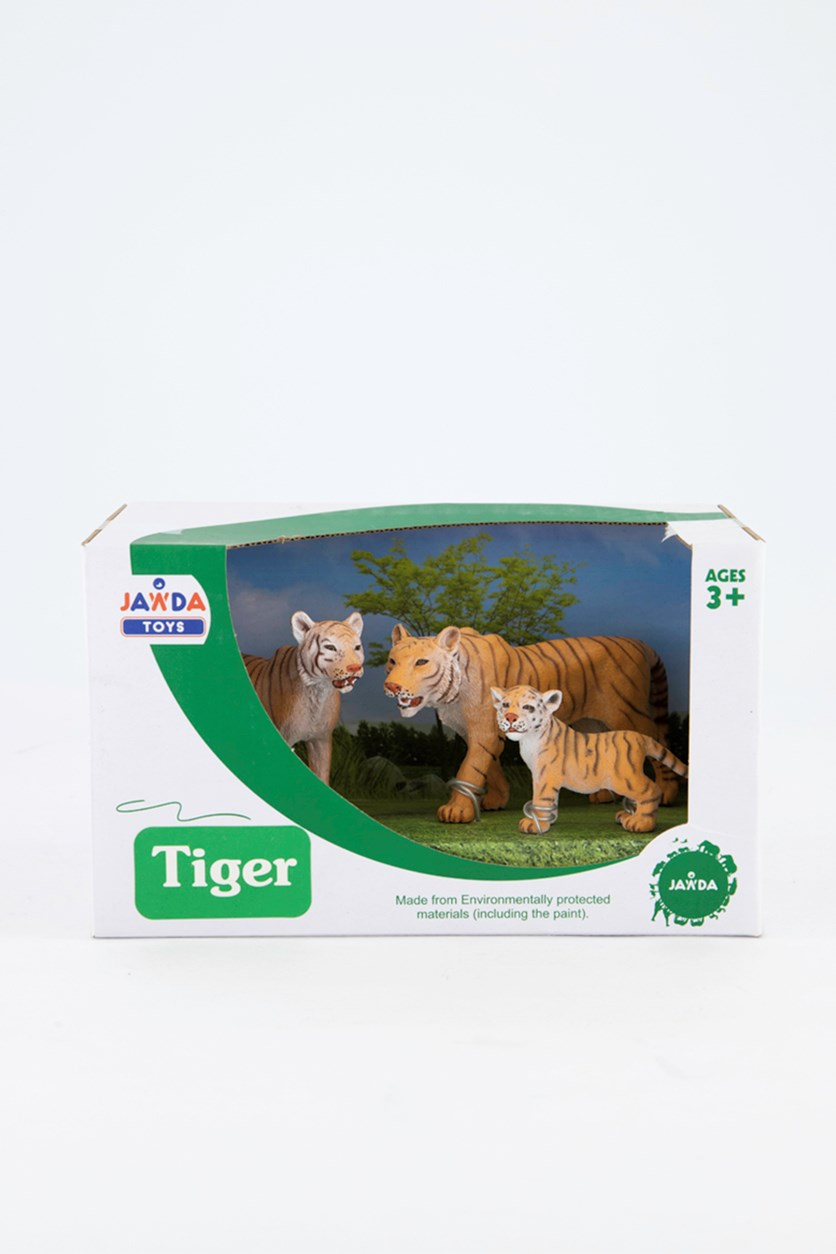 Animal Kingdom 3 Pieces Tiger Figurine, Orange