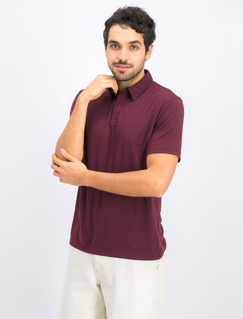 Mens Soft Touch Stretch Polo, Port