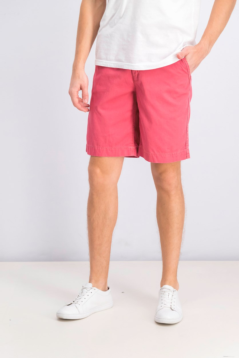 Relaxed-Fit Cotton Chino Shorts, Nantucket Red