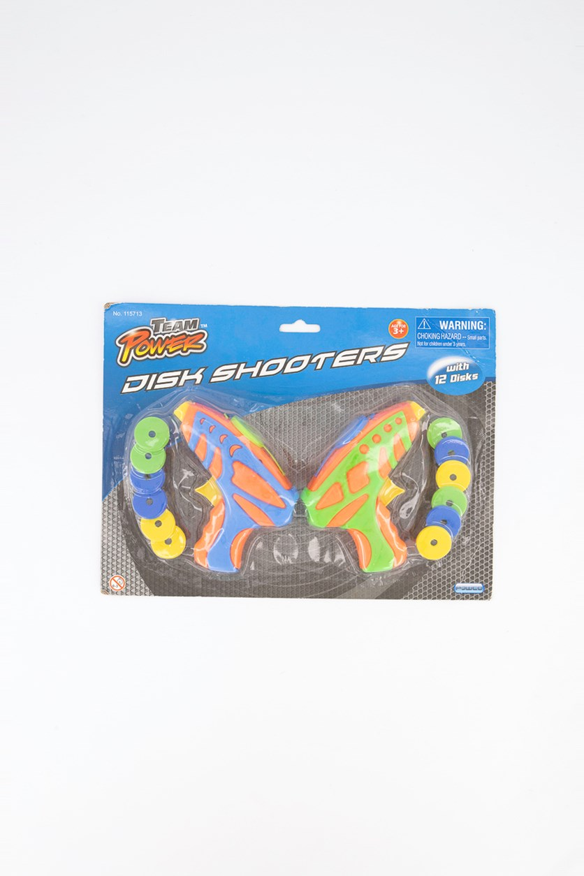 Disc Shooter With 12disks, Orange/Blue Combo