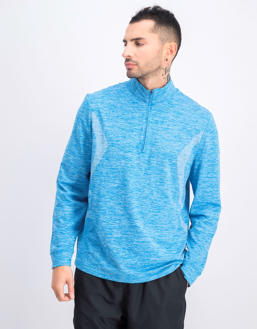 Men's Water Repellent Pigment Print Pullover, Heather Blue