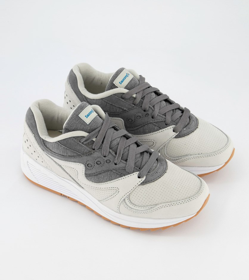Men's Grid Sports Shoes, Light Grey/Dark Grey