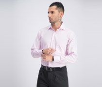 Mens Long Sleeve Dress Shirt, Pink