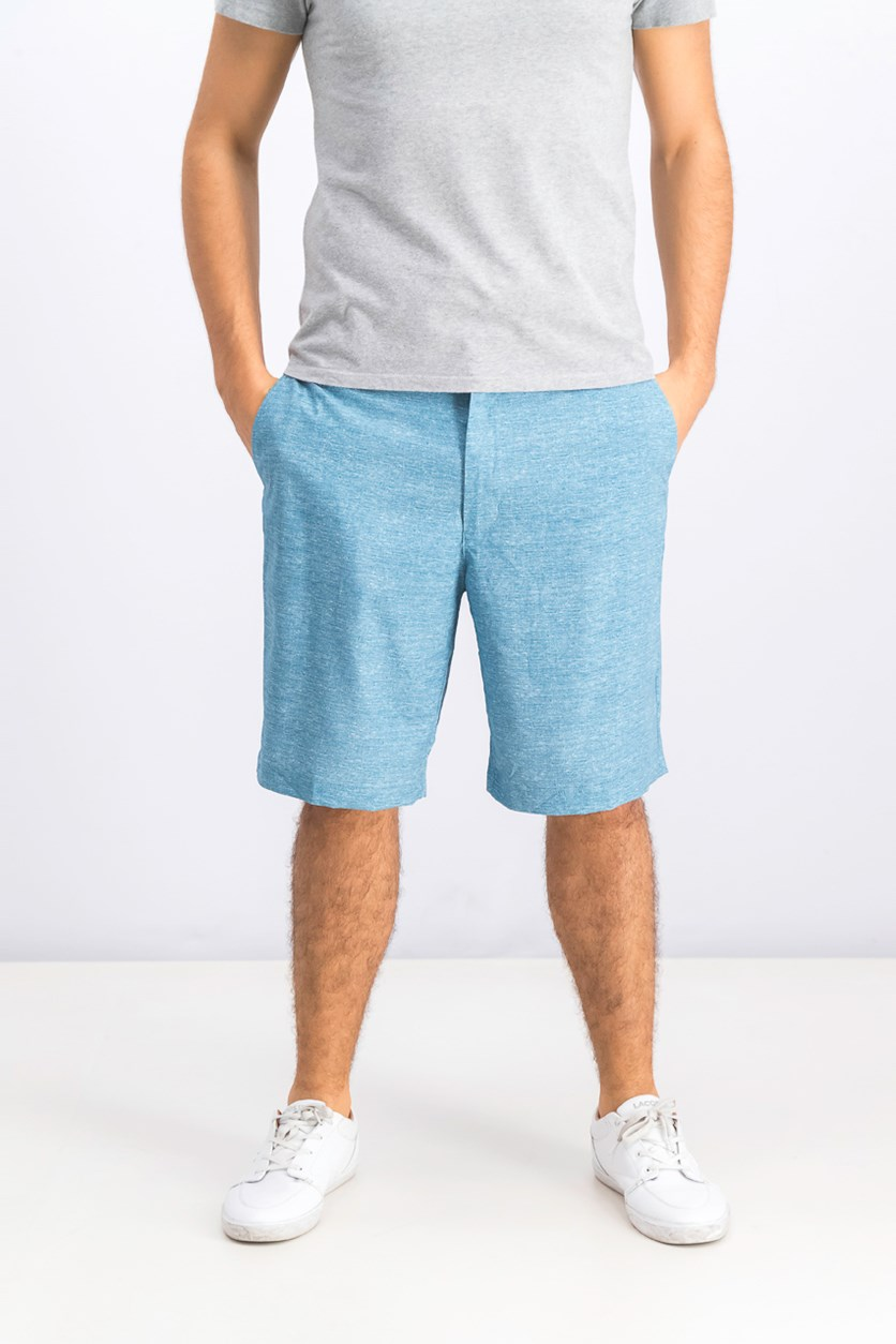 Mens Printed Shorts, Aqua Lake