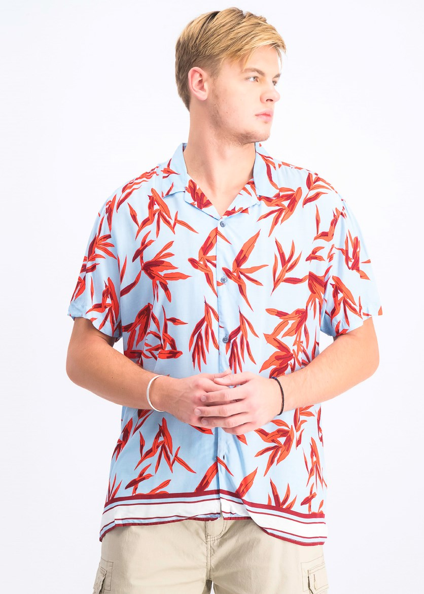 Men's Hani Floral Shirt, Blue Combo