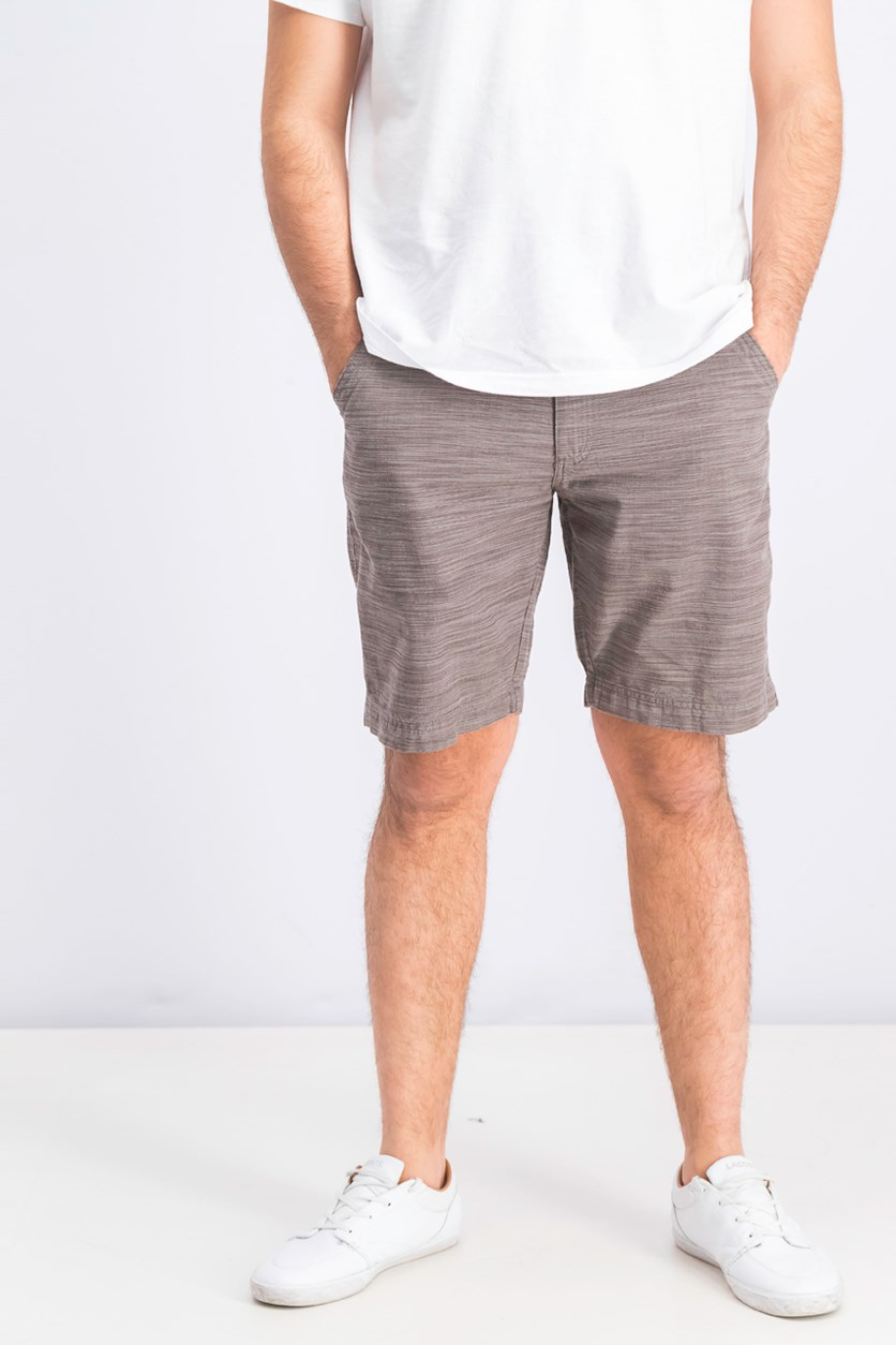 International Concepts Mens Flat-Front Texture-Stripe Shorts, Warm Taupe