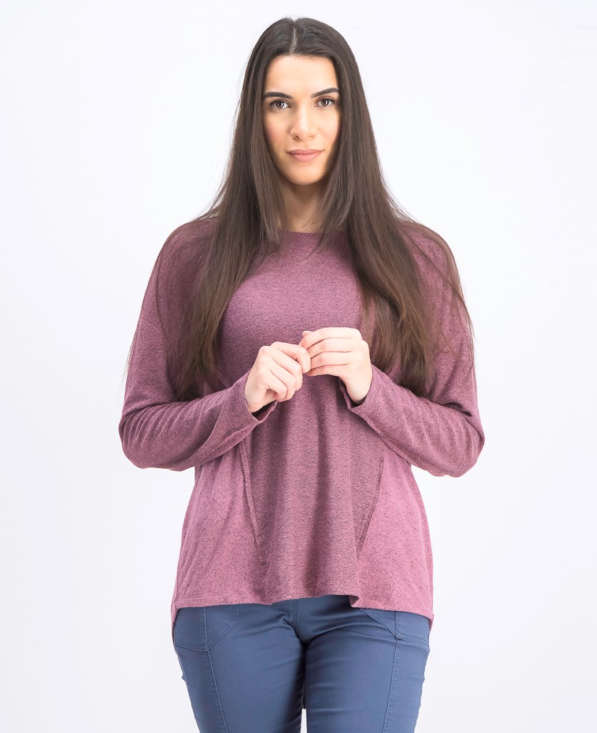 Women's Colorblocked Marled Top, Melange Mesa