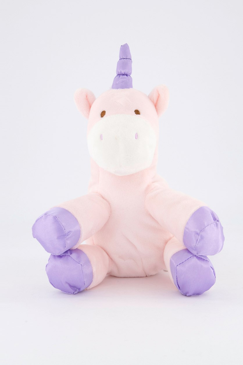 Baby Unicorn With Rattle, Pink/Purple