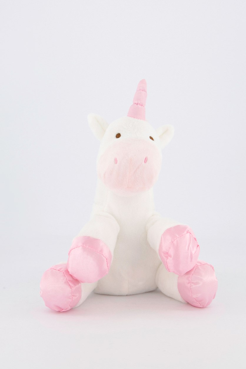 Baby's Unicorn With Rattle, White/Pink