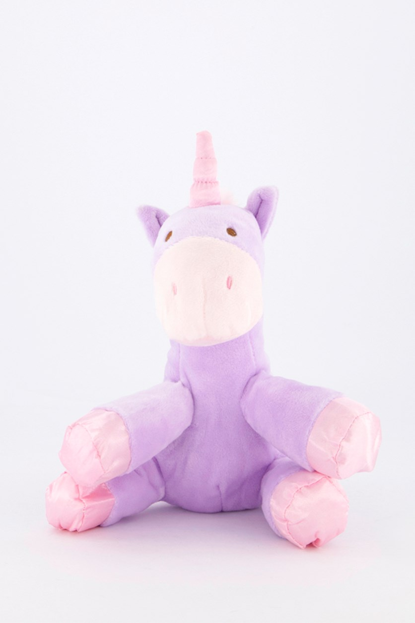 Baby Unicorn with Rattle Sound Plush Toy, Lavender/Pink