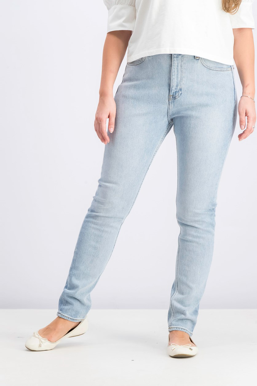 Women's High Rise Slim Jeans, Wash Blue