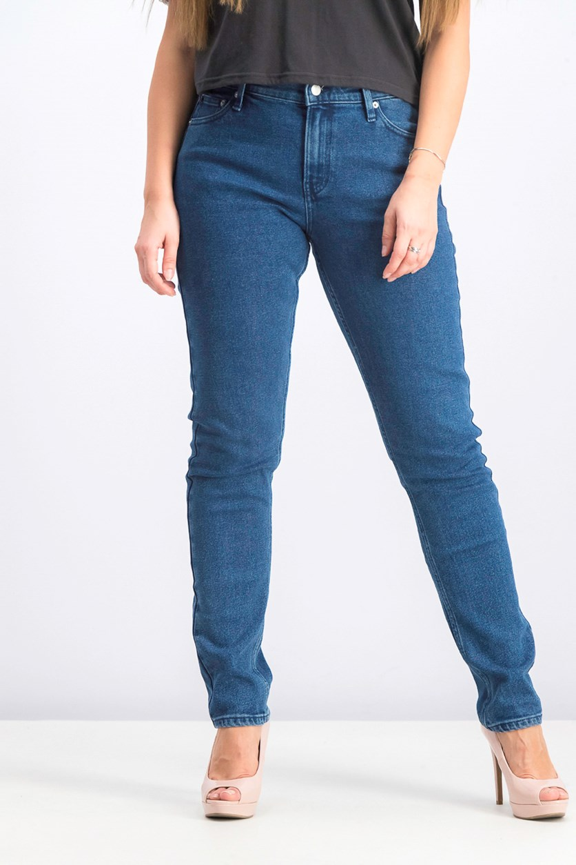 Women's Mid Rise Slim Fit Jeans, Blue