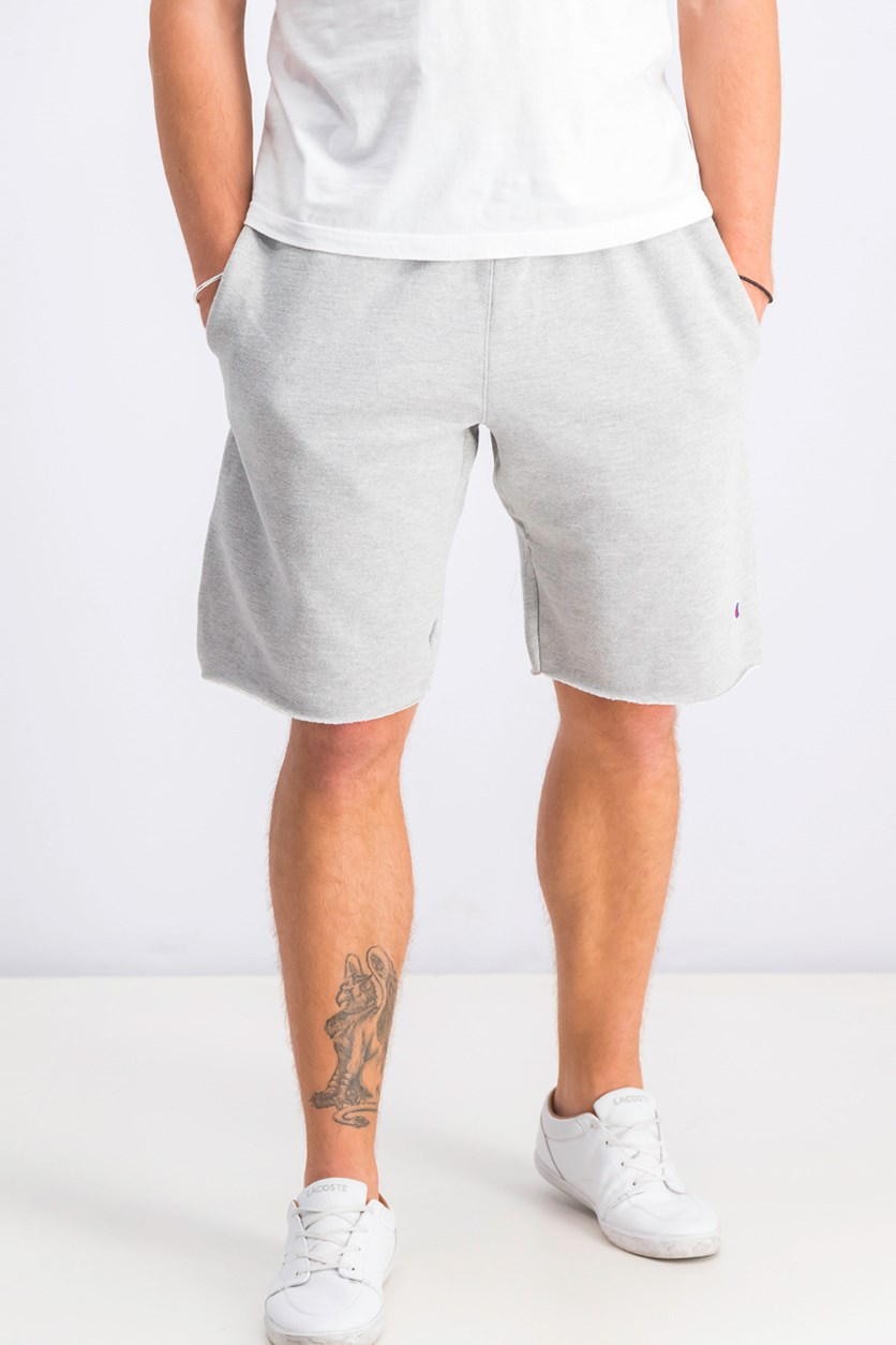 Reverse Weave Cut-Off Shorts, Grey
