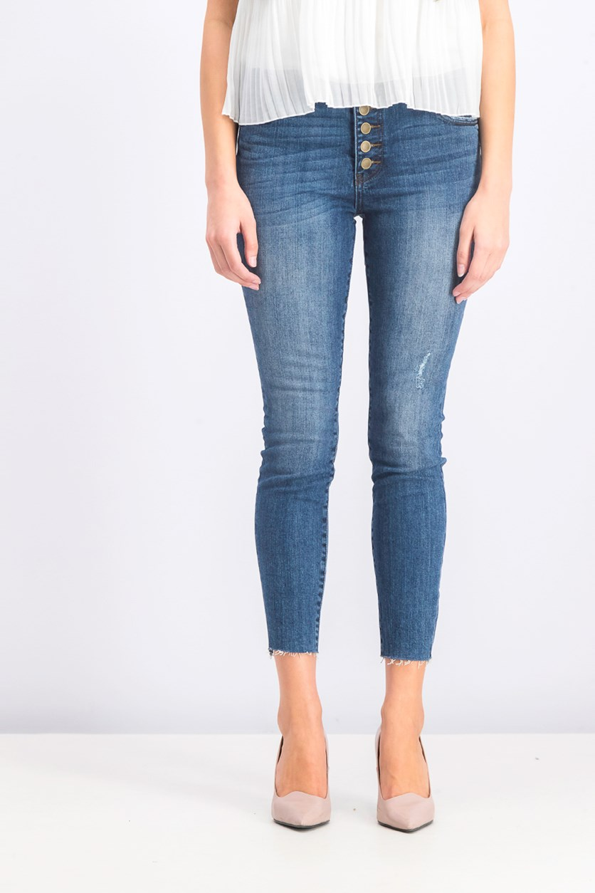 Women's Pull-on Jeans, Blue