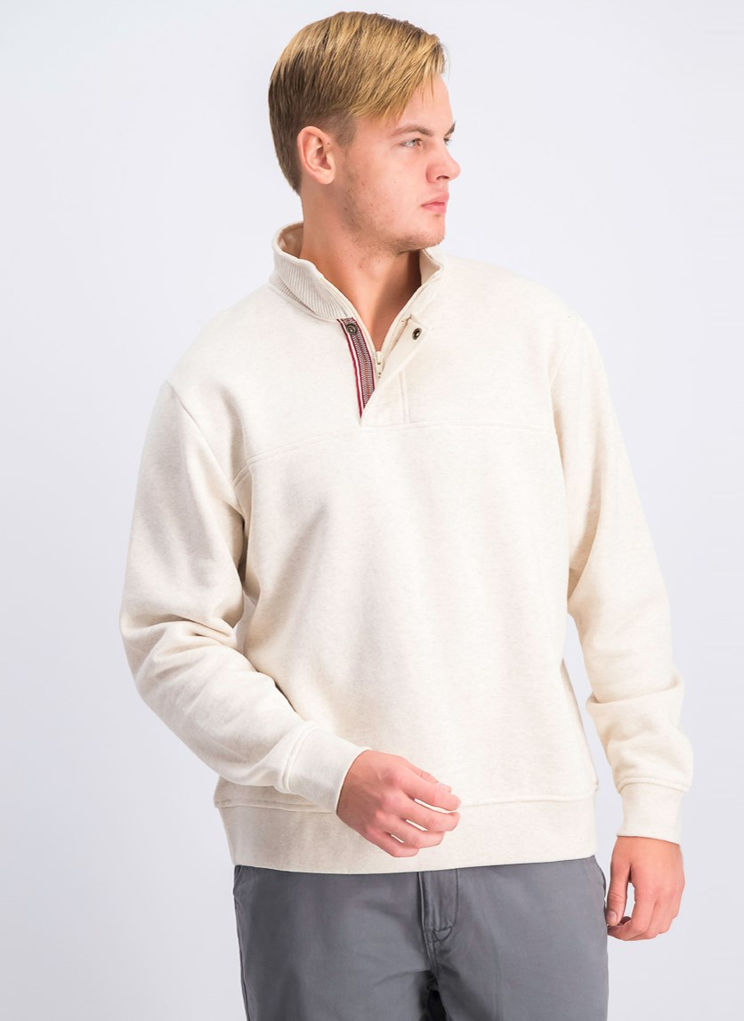 Men's Pullover Sweater, Oatmeal Heather