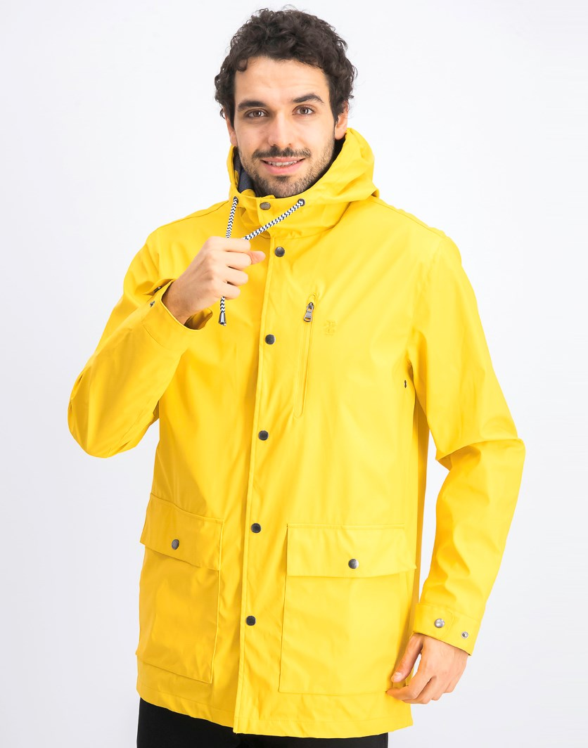 Men's Hooded Windbreaker Jacket, Yellow