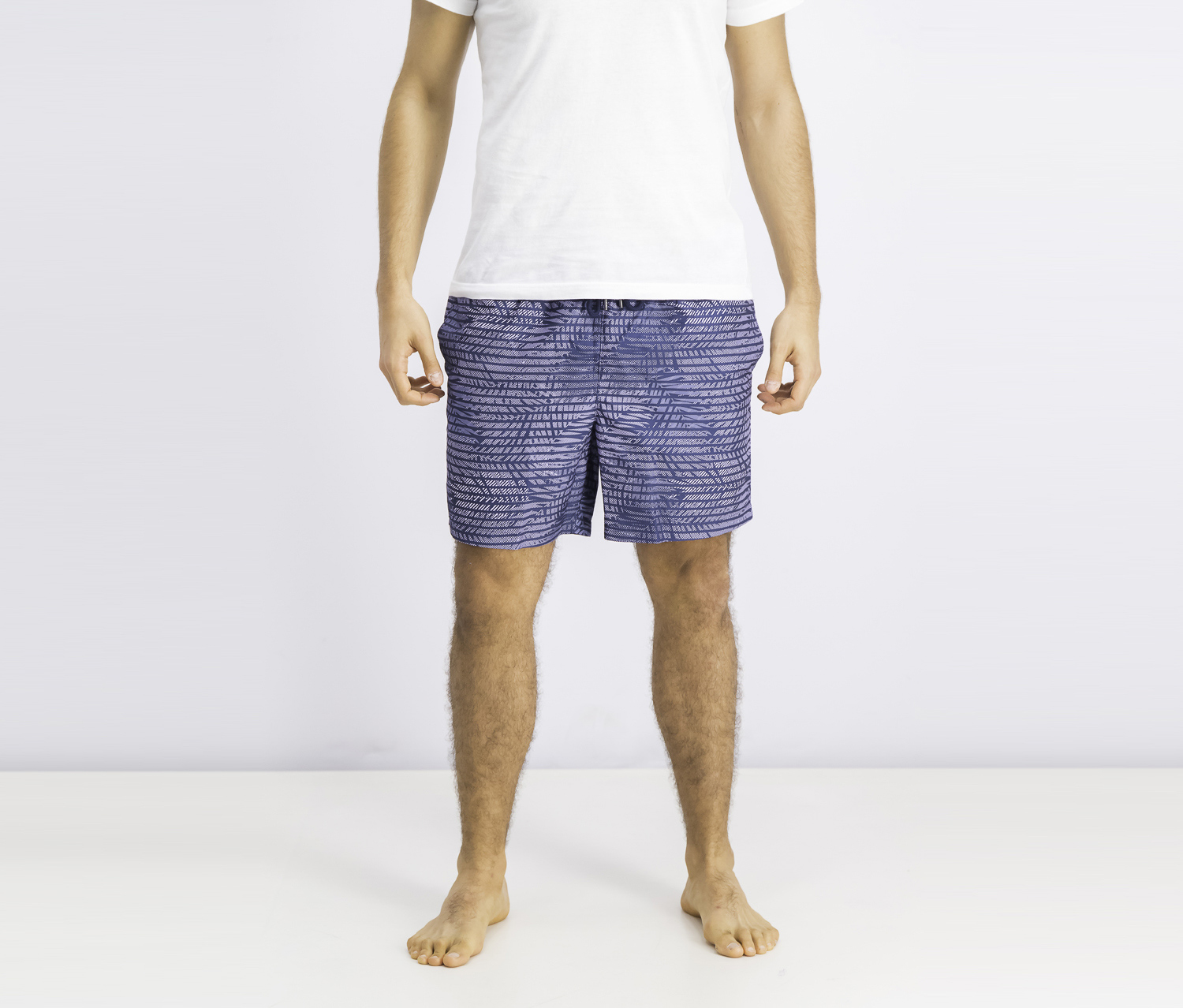Men's Pinted Board Short, Lavender/Navy