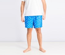 Mens Ike by Zigzag Block Swim Trunk, Dresden Blue