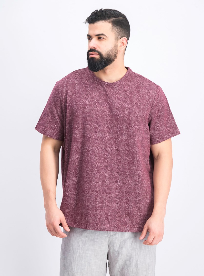 Men's Crewneck T-Shirt, Chile Garnet