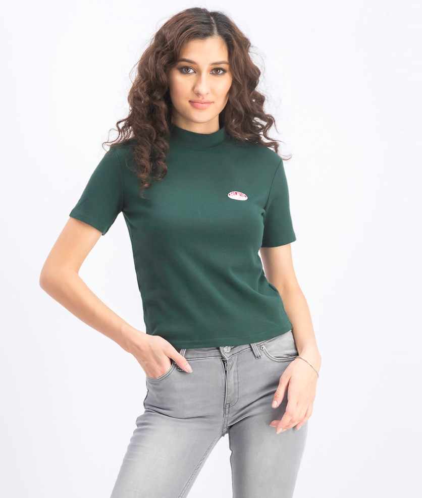 Women's Believe Embroidered Top, Green