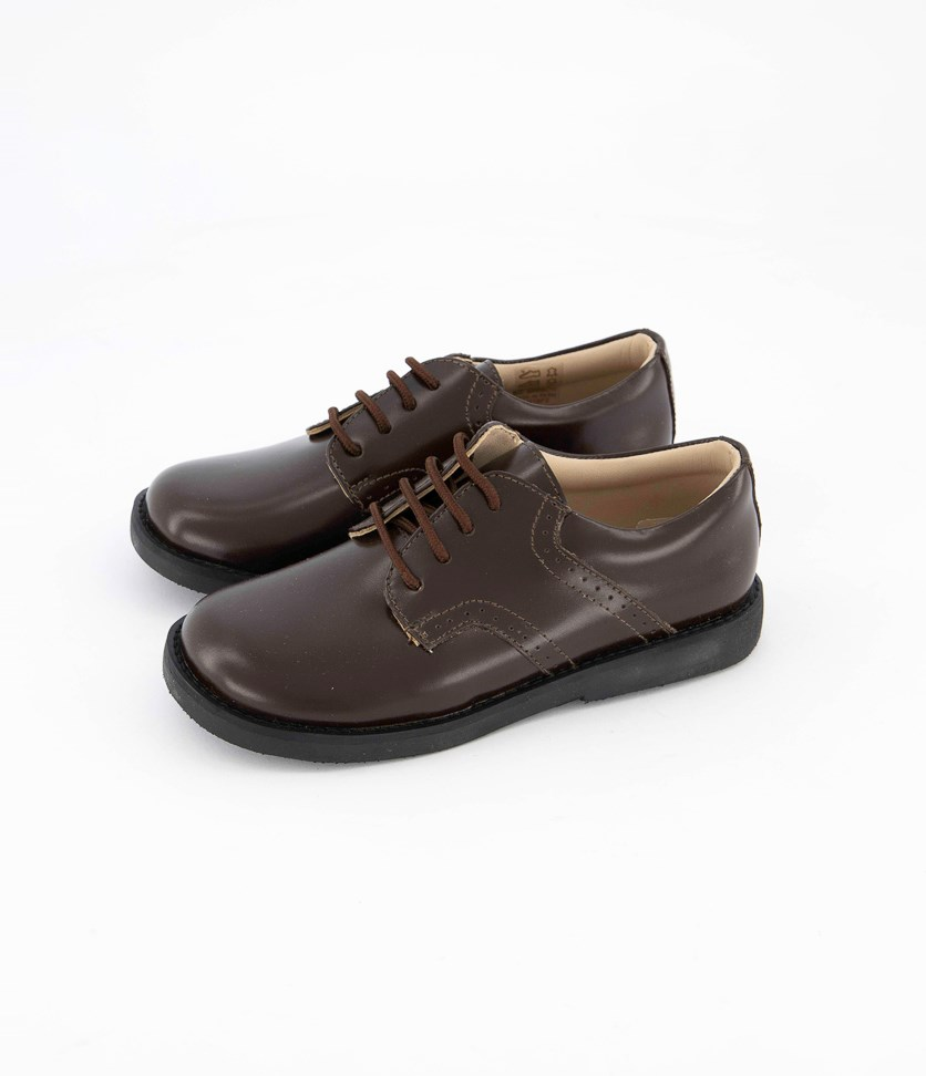 Kids Boys Golfers Oxford, Brown
