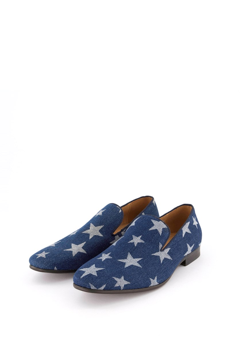 Men's Lonestar Printed Loafers, Denim