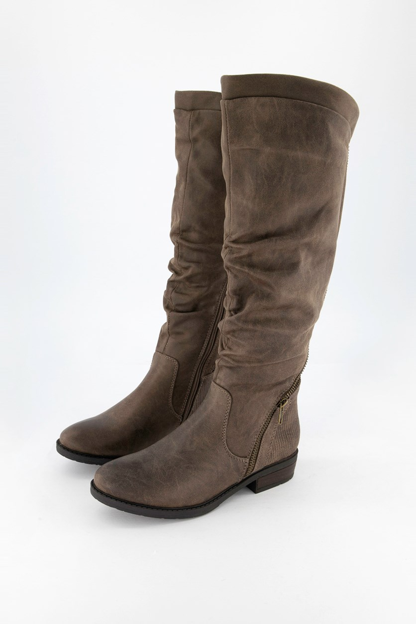 Women's Yulissa Knee High Boots, Mushroom Micro
