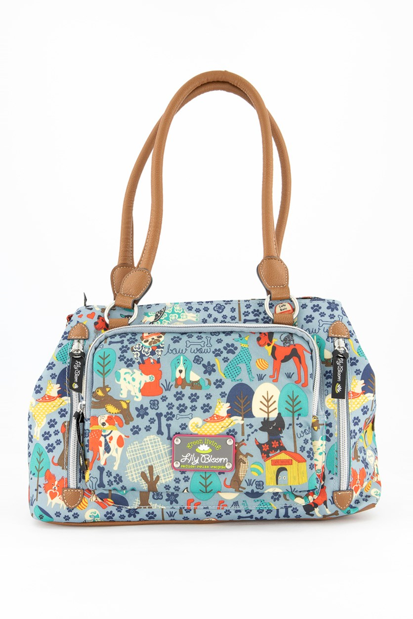 Women's Who Let The Dogs Out Maggie Satchel, Blue Combo